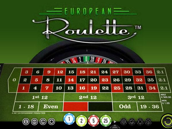 Europäisches Roulette Vorschau